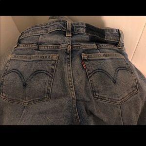 Levi's w/ back crease, skinny